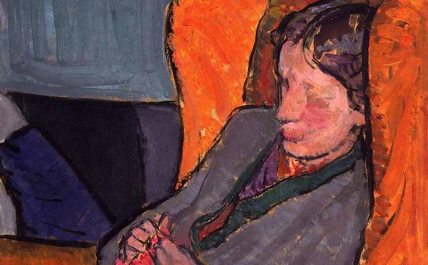 Pintura en la que aparece Virginia Woolf. /Archivo