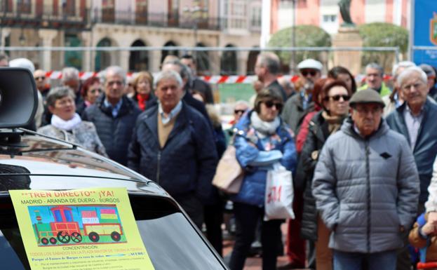 Los participantes no se cansan de pedir el tren directo Madrid-Aranda-Burgos