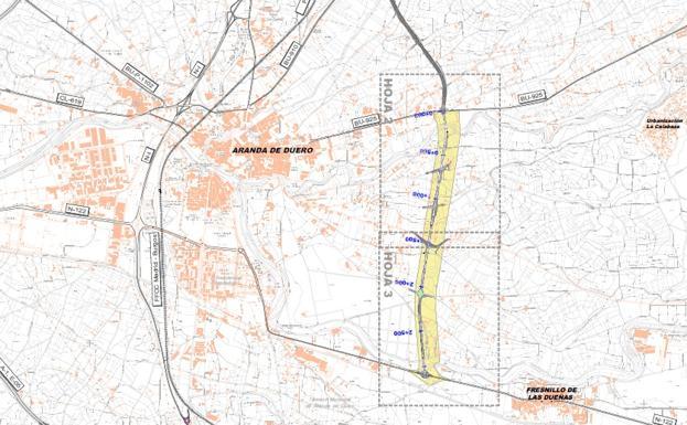 Aranda Del Duero Mapa.Abierto A Informacion Publica El Estudio De La Prolongacion