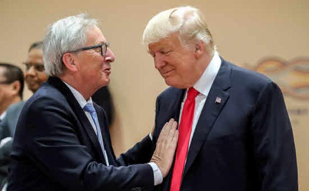 Jean-Claude Juncker y Donald Trump.