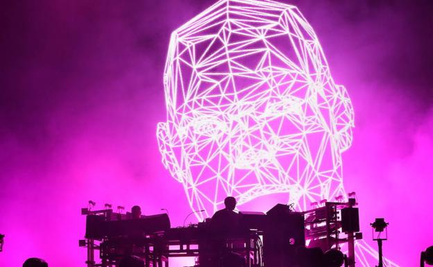 Concierto de Chemical Brothers en Rock in Rio Lisboa 2018.