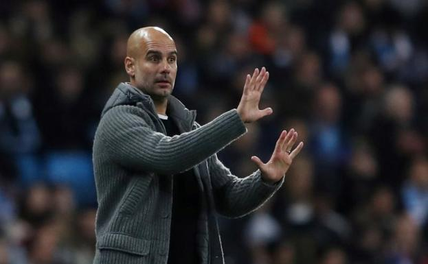 Pep Guardiola, durante un partido del City./Lee Smith (Reuters)