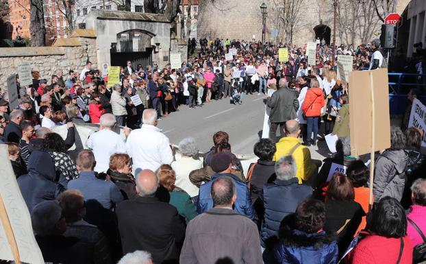 Imagen de la manifestación por la Atención Primaria del pasado sábado/Andrea Ibáñez