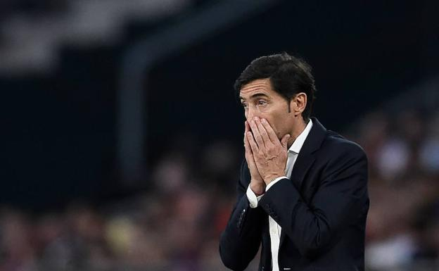 Marcelino, durante la final. /Afp