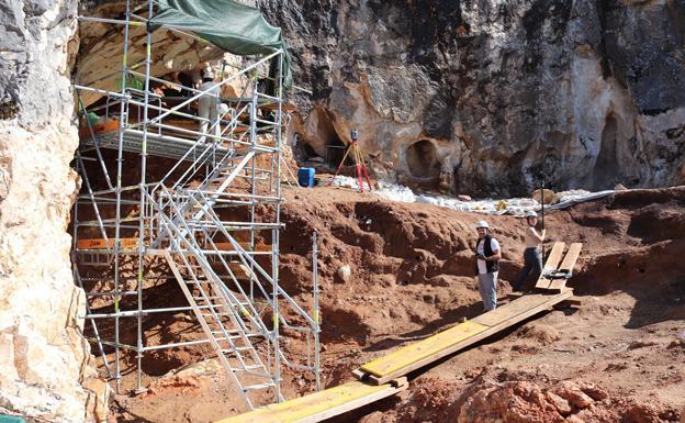 Imagen de una excavación de Atapuerca. /BC