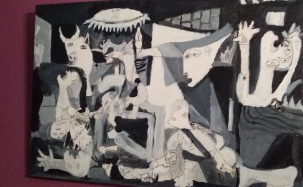 El Guernica de Picasso reproducido por Ugaitz, que disfruta mucho con las artes plásticas.